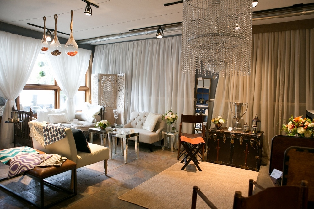 A showroom of some of our furniture rentals