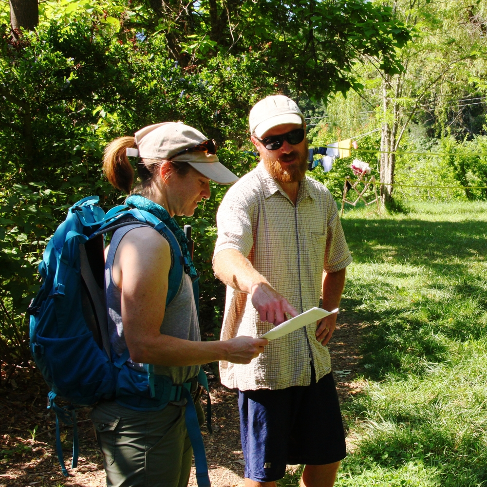 Karen and Taylor go over the layout and details of the farm and forest.