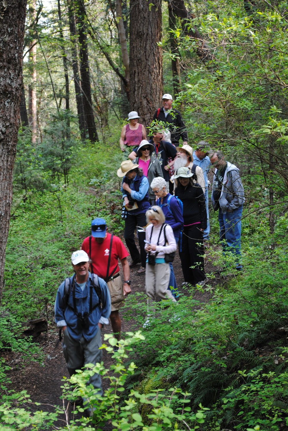 Dave Garcia leads a community hike.