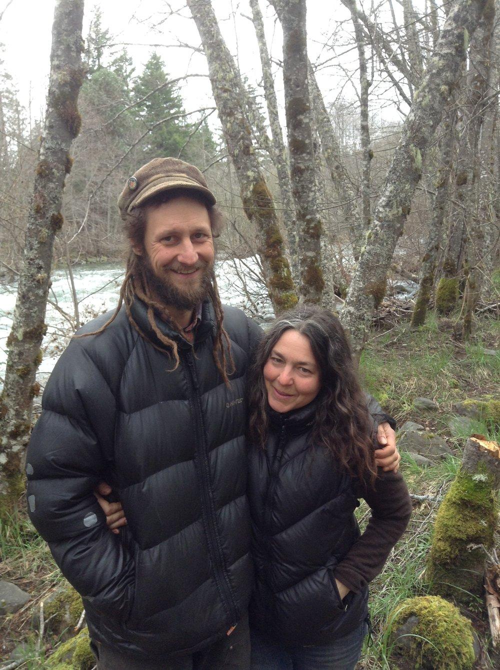 Landowners David Stone and Carolyn Taormina