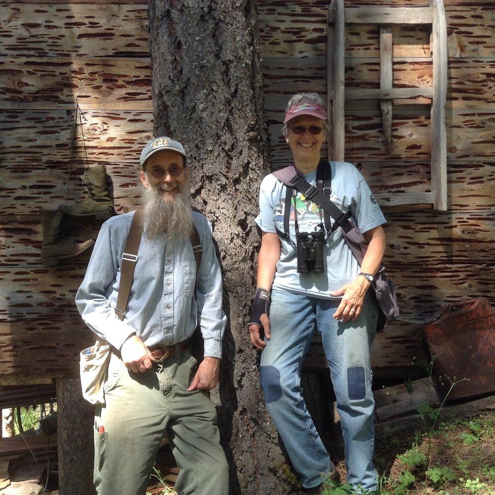 Conserved Sardine Creek landowners, Clem Stockard and Bonnie Brown.