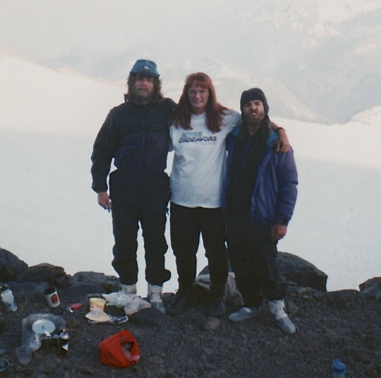 A throwback of Debra and friends summiting Rainier in '95.