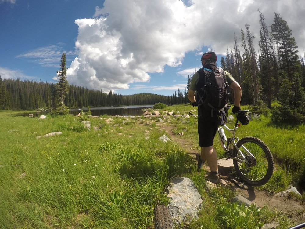 Biking the Continental Divide right outside of Steamboat, Colorado.