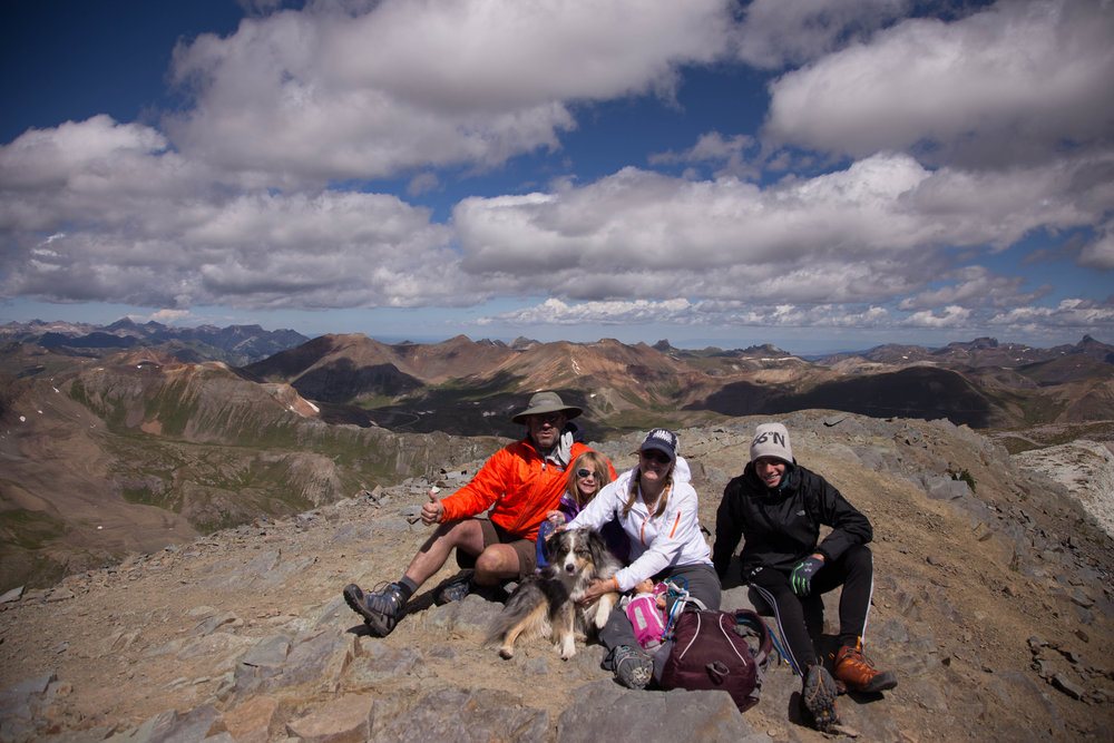 In August (2016), we headed to Colorado to hike and camp at the Great Sand Dunes National Park and near Lake City in the San Juan Mountain Range. The entire family managed to make the hike to the summit of Handies Peak at 14,028 - the first for 4 out of 5 of us!  Submitted by Melissa Clow