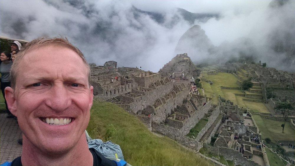 Dave at Machu Picchu, Peru. Jan 2017.