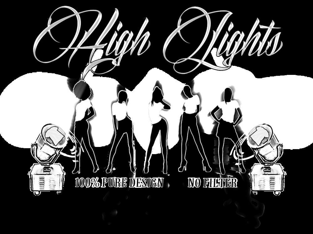 High Lights Logo Clubs BW.png