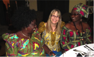 Mme Monique with daughter Nana (a nurse in VA) & Susan Lidstone on  March 1, 2014 at the African Soirée.