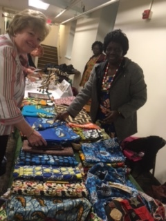 Friends at Princeton United Methodist enjoy some of the lovely creations of the sewing school.