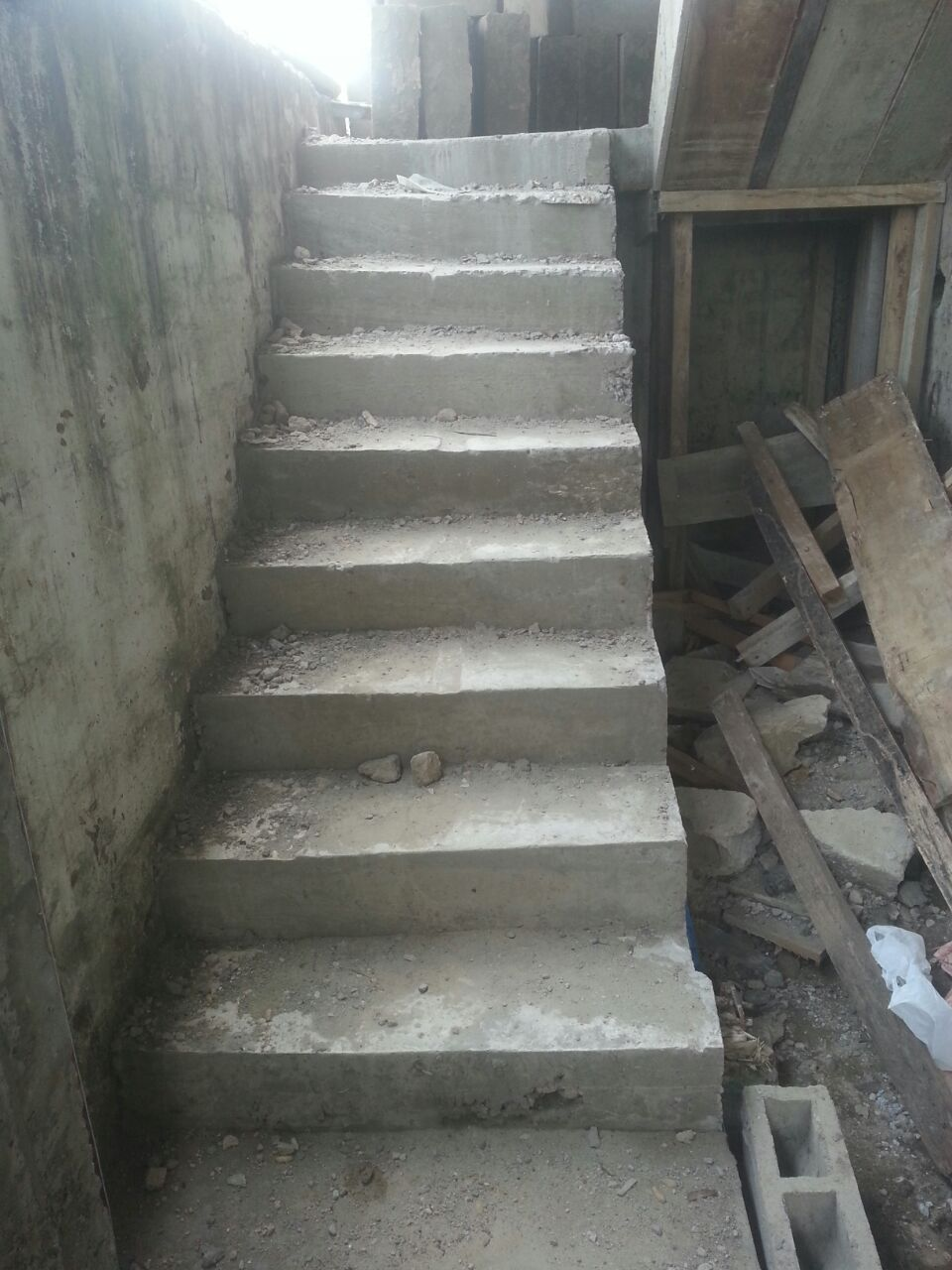 Steps to 2nd floor