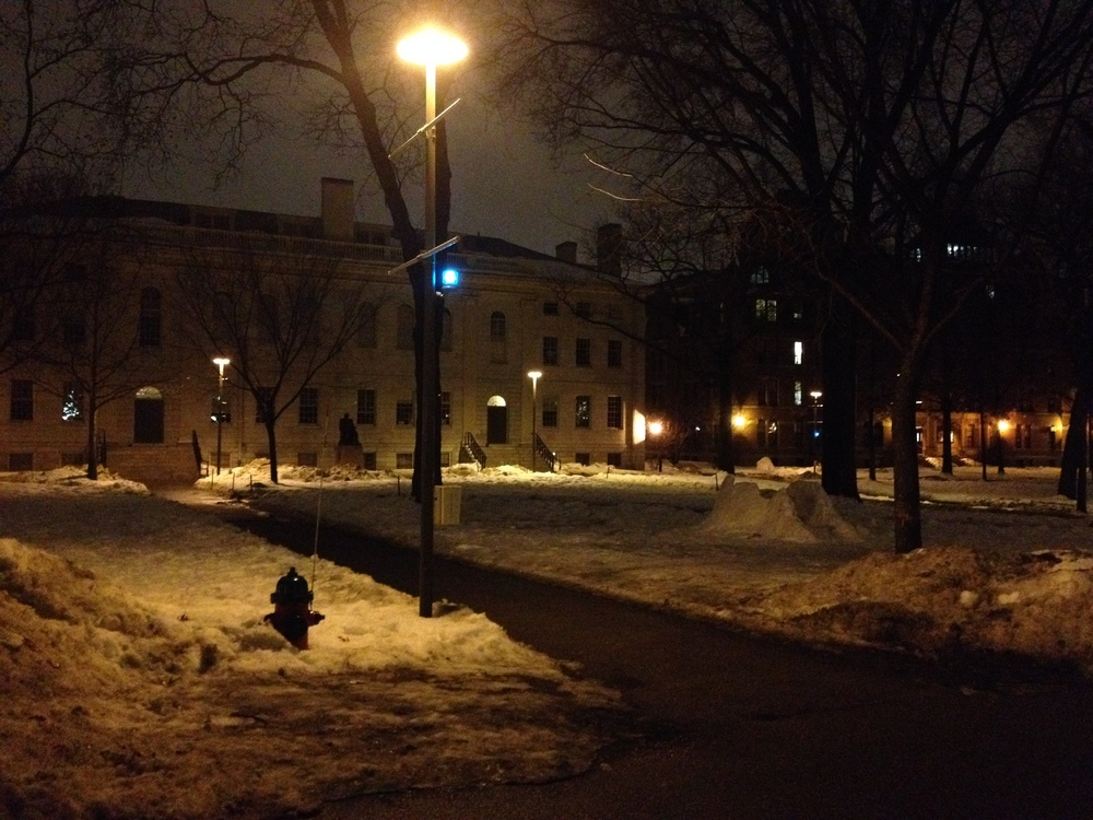 Harvard Yard at 4am