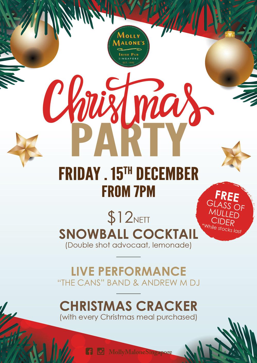 Christmas Party — Molly Malone\'s Irish Pub