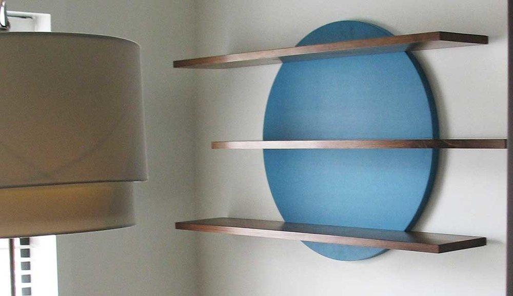 Cambium Studio.Slippery Shelves.Custom Blue Circle w 3 shelves.jpg