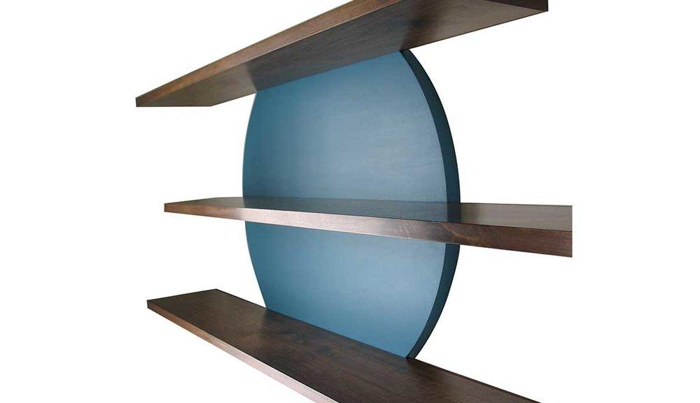 Cambium Studio.Slippery Shelves.Custom Blue Circle w 3 shelves_1.jpg