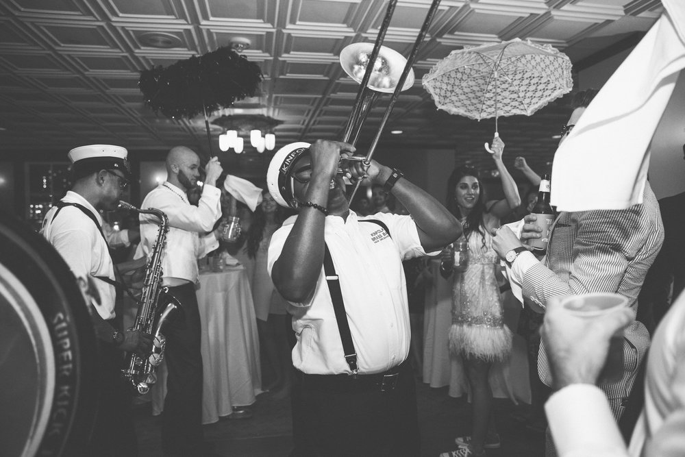 Caitlin B Photography | Fat Cat Flowers | Studio Vieux Carre | Chee Weez | New Orleans Wedding | Riverview Room | Kinfolk Brass Band