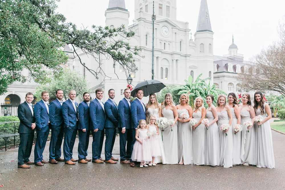 Photography by Sarah Brooke | Flowers by IRIS | MakeUp by Ashley Sievert | Hair by Nicole Pigeon | Ceremony at St Louis Cathedral | Reception at Republic NOLA | Pigeon Catering | Shot Gun Jazz Band | DJ G | Cakes by Brew Ha Ha | Young Pinstripe Brass Band