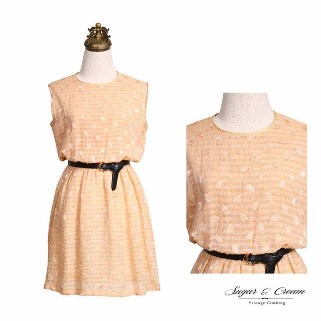 Peachy Perfection . Shop here : https://goo.gl/l89rv8 . This charming peach dress can be paired with brown leather sandals for a laid-back summer look or matched with killer heels for a show-stopping look. Sleeveless and made from cotton, the dress is great for warmer days or hot evenings. #Beunique #Beyourself