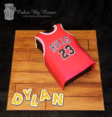 Chicago bulls birthday cake basketball cake team jersey.png