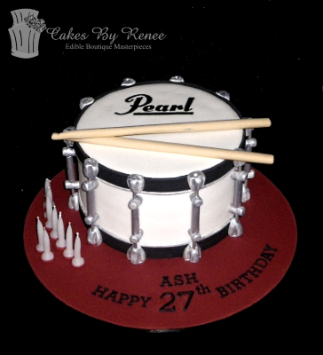 drum birthday cake music instruments band boys mens.png