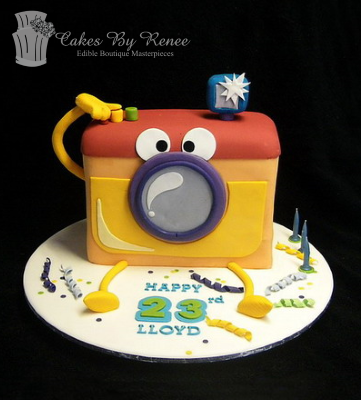 kids camera cake photography photographer cake fun birthday.png