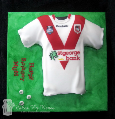NRL football jersey birthday cake fan afl league rugby.png