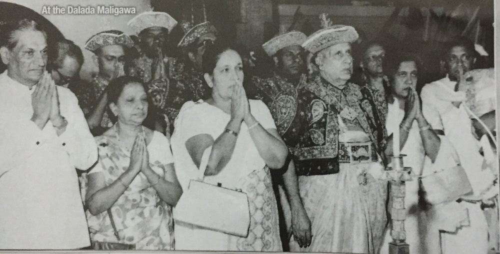 H.B. Udurawana with Her Excellency Sirimavo Bandaranaike, the Prime Minister of Sri Lanka and the modern world's first female head of government.