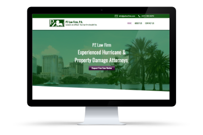 PZ Law Firm (2018)  Website design and development, copyediting, content strategy