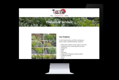 CML Garden Center (2018)  Website design and development, photography