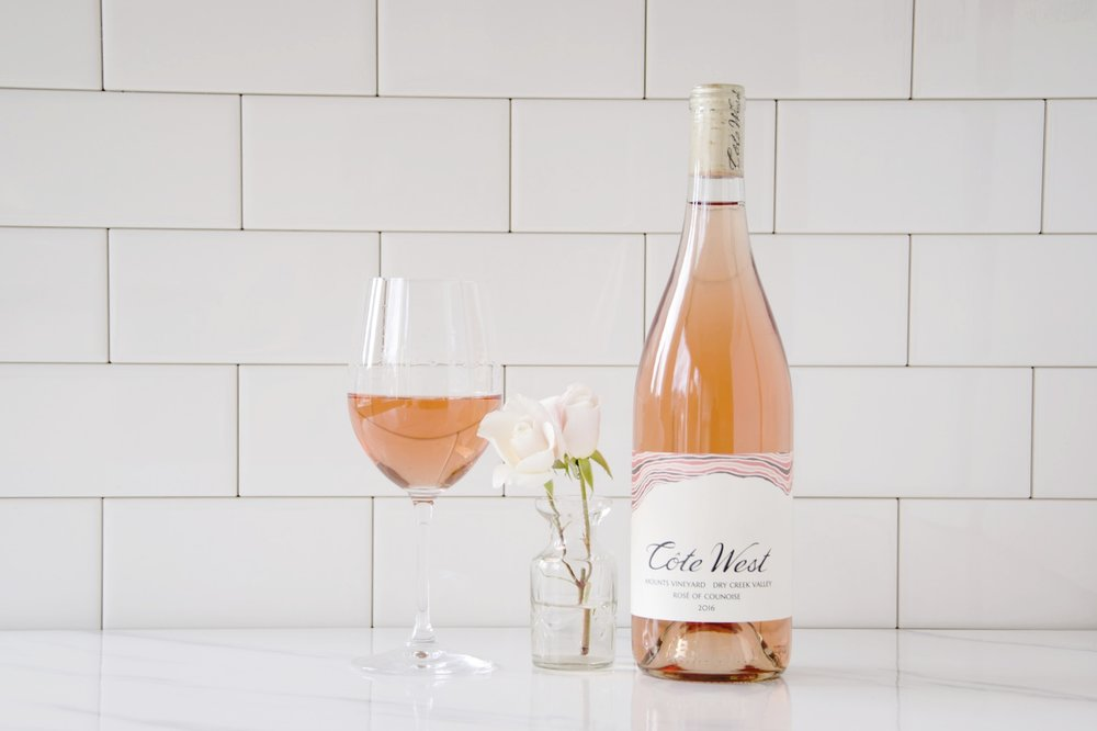 2017 Mounts Dry Creek Valley Rosé of Counoise   Intensely aromatic, bright and perfumed red fruits bound out of the glass. On the palate, this dry rosé has a rich body, yet lively acidity.