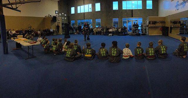 Full house at our intermediate and advance belt test ceremony! #futureblackbelts #fbk #fightingbrotherskarate #karate