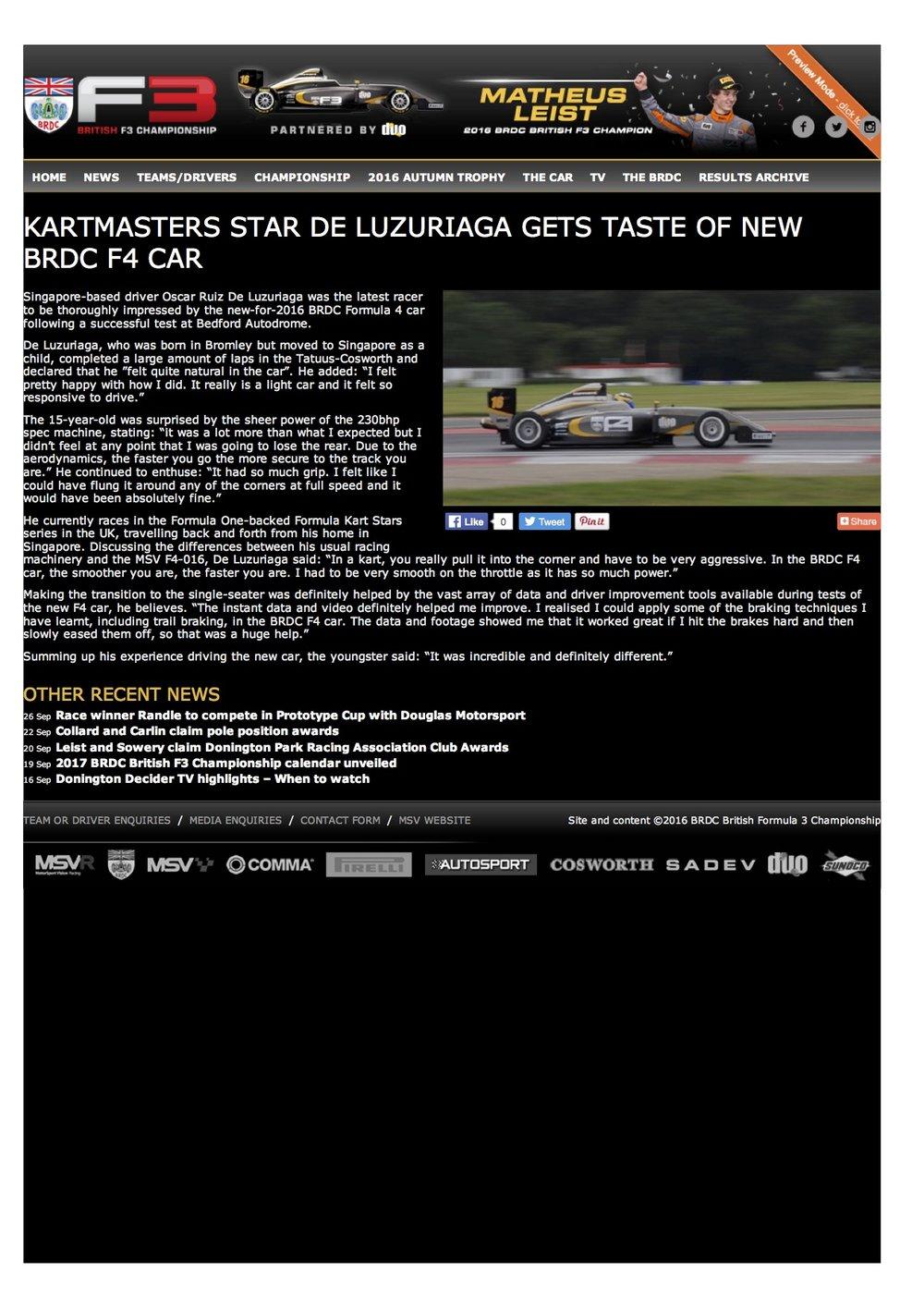 Kartmasters star De Luzuriaga gets taste of new BRDC F4 car.jpg