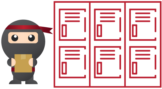 Ninja Box   Ninja Boxes are automated parcel lockers strategically located across the country. You can collect your parcel by simply scanning a verification code, which will be sent to you via email/sms once your parcel has arrived at the Ninja Box.