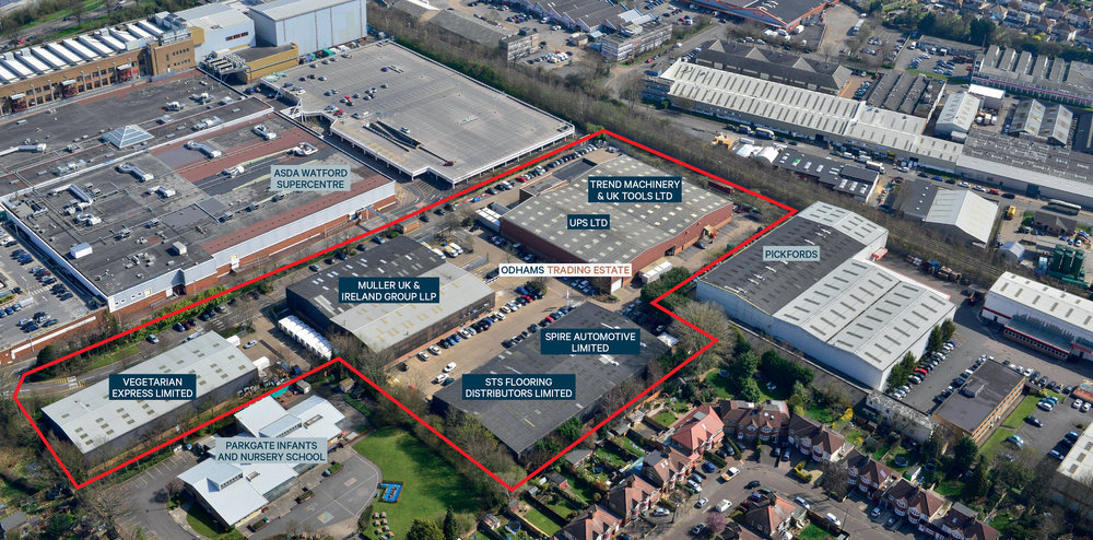 INDUSTRIAL - INVESTMENT - SALE    Odhams Trading Estate   Inner M25 Industrial Estate   Client:  Aberdeen Asset Management   Purchaser:  M&G   Price:  Confidential