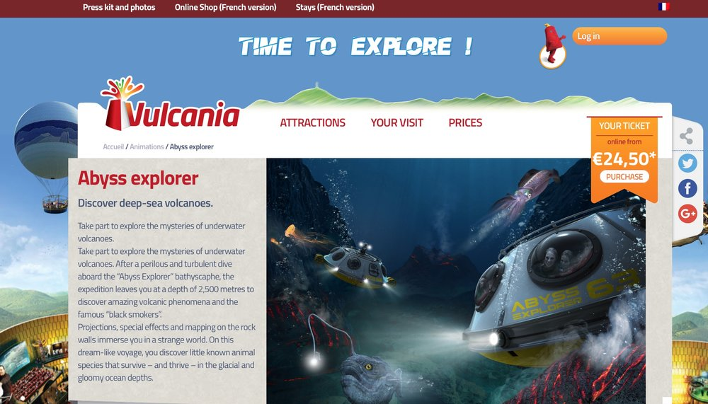 Parc Vulcania shows you everything about our regions vulcanoes -  www.vulcania.com