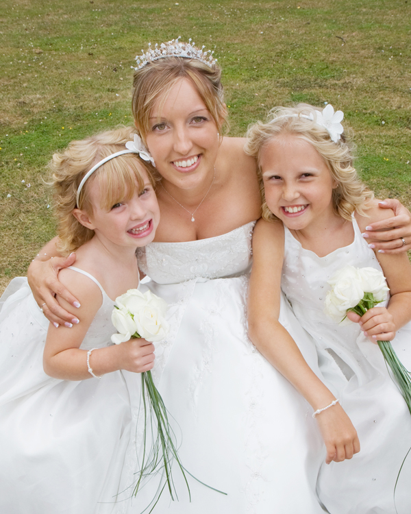 Vicky with two of her bridesmaids