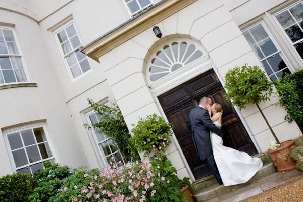 Gillian & Nigel outside Newick Park Hotel