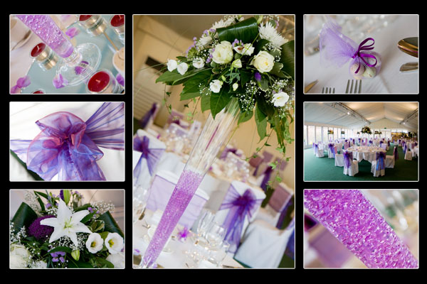 The wedding breakfast tables