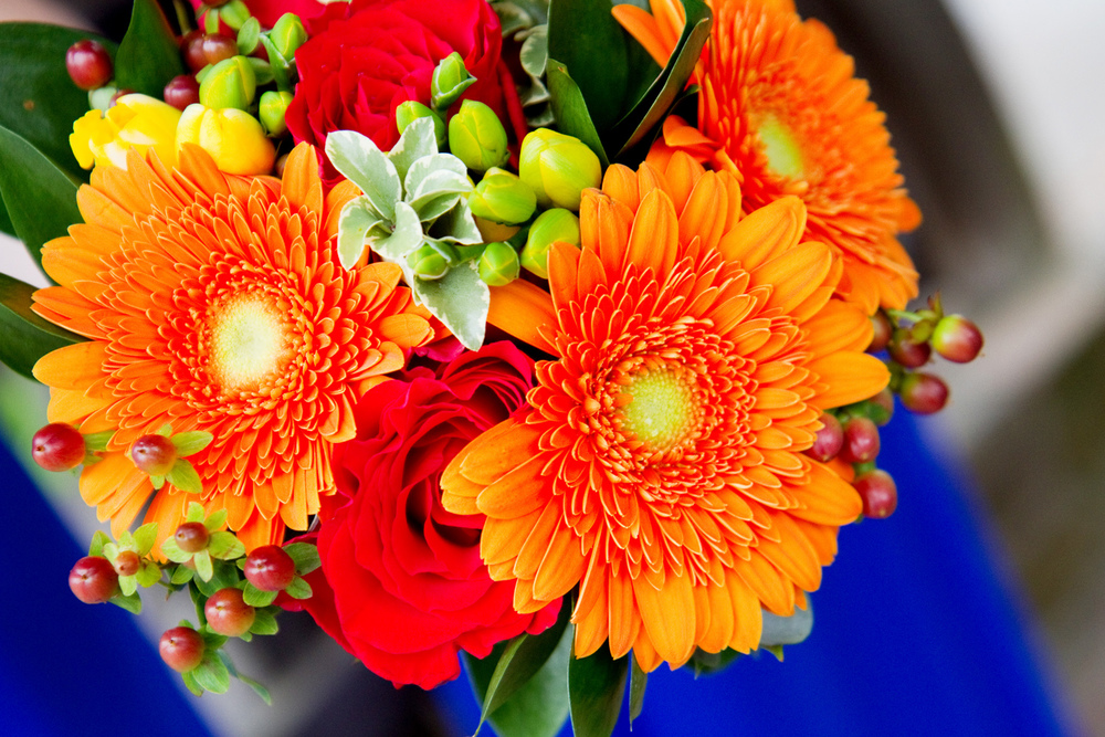 Brighton Orange Wedding Bouquet, Helen England Photography, Kent, U.K