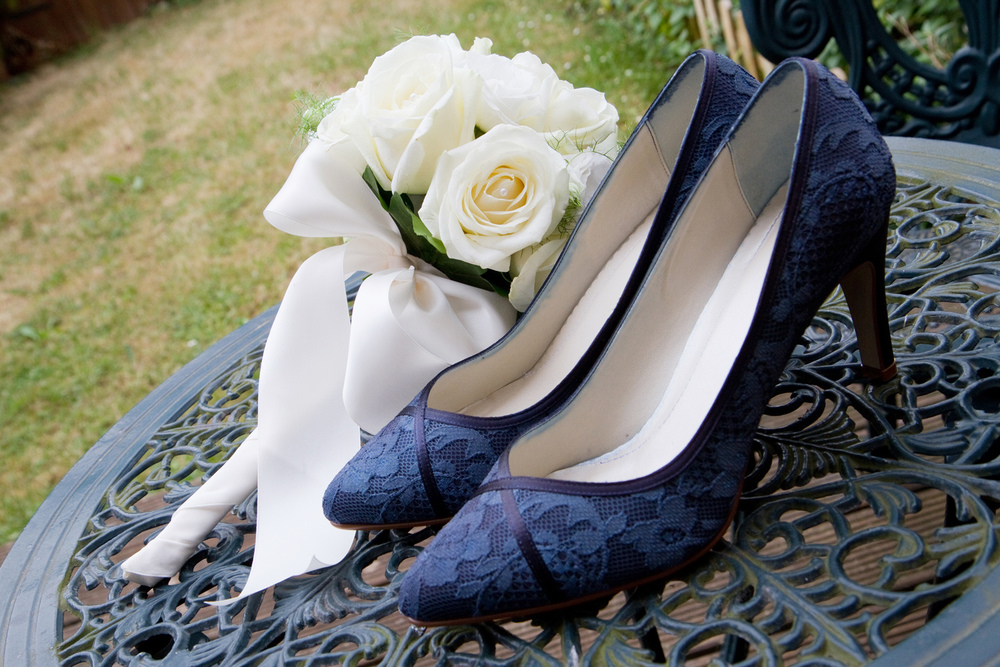 Navy Wedding Shoes, Helen England Photography, Kent, U.K