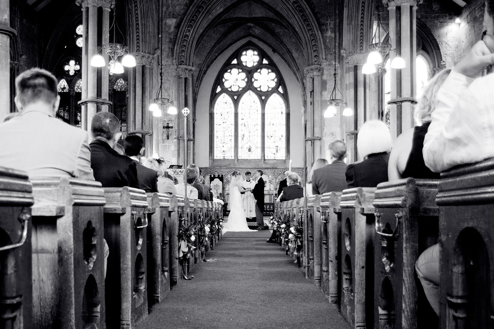 Black & White Church Wedding Photography, Helen England Photography, Kent, U.K