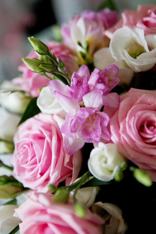 Pink Bridal Bouquet, Helen England Photography, Kent, U.K