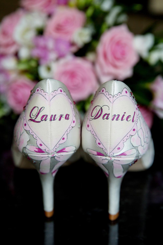 Customised Wedding Shoes, Helen England Photography, Kent, U.K