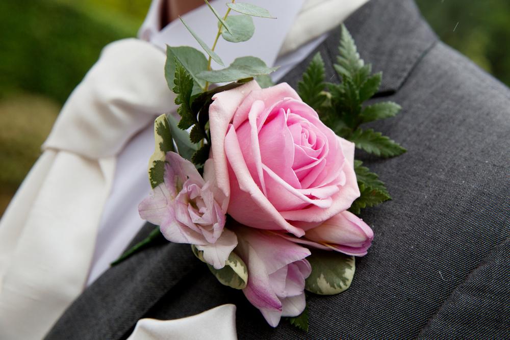 Pink Rose Buttonhole, Helen England Photography, Kent, U.K