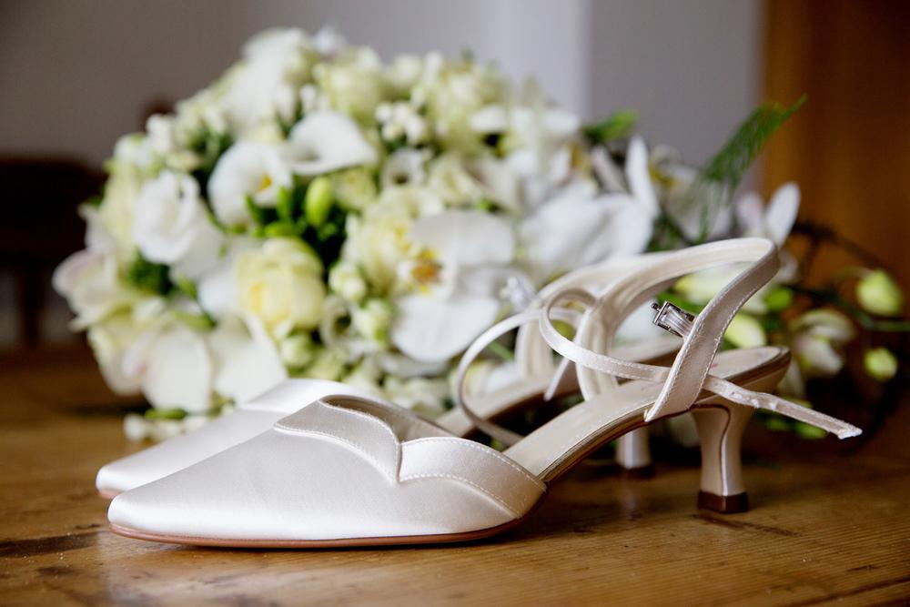 Ivory Wedding Shoes, Helen England Photography, Kent, U.K