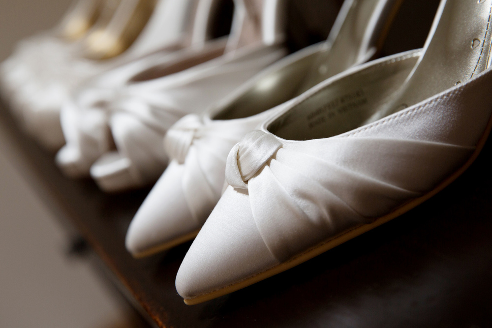 Ivory Wedding Shoes, By Helen England Photography, Kent, U.K