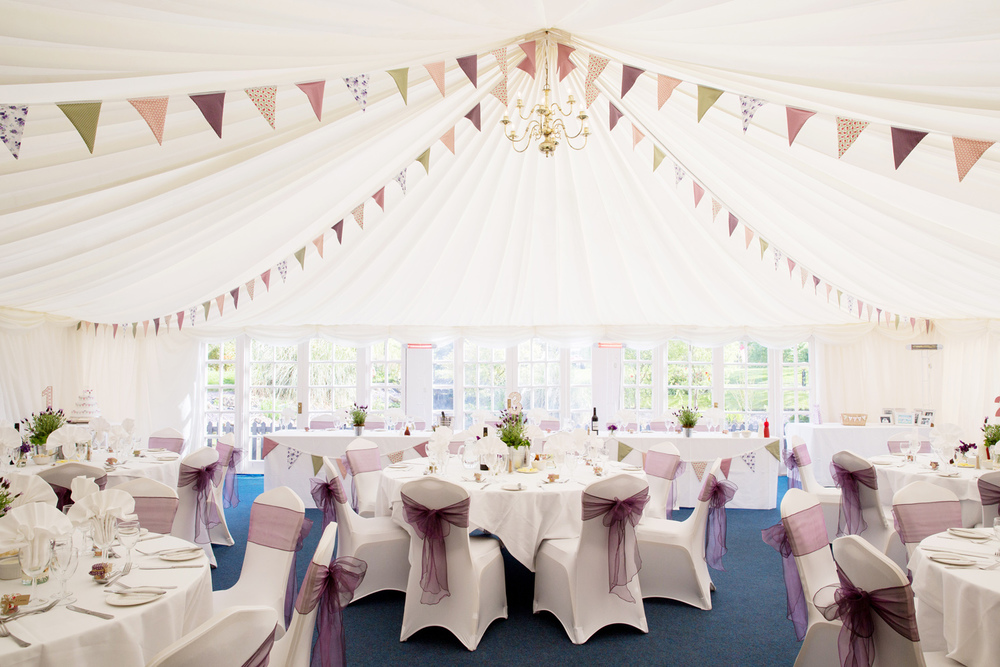 Wedding Marquee Decor, Bunting, Helen England Photography, Kent, U.K