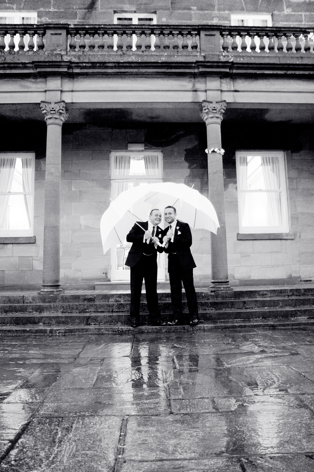 Salomons Wedding Venue, Winter Wedding, Black & White, Same Sex Wedding, Helen England Photography, Kent, U.K