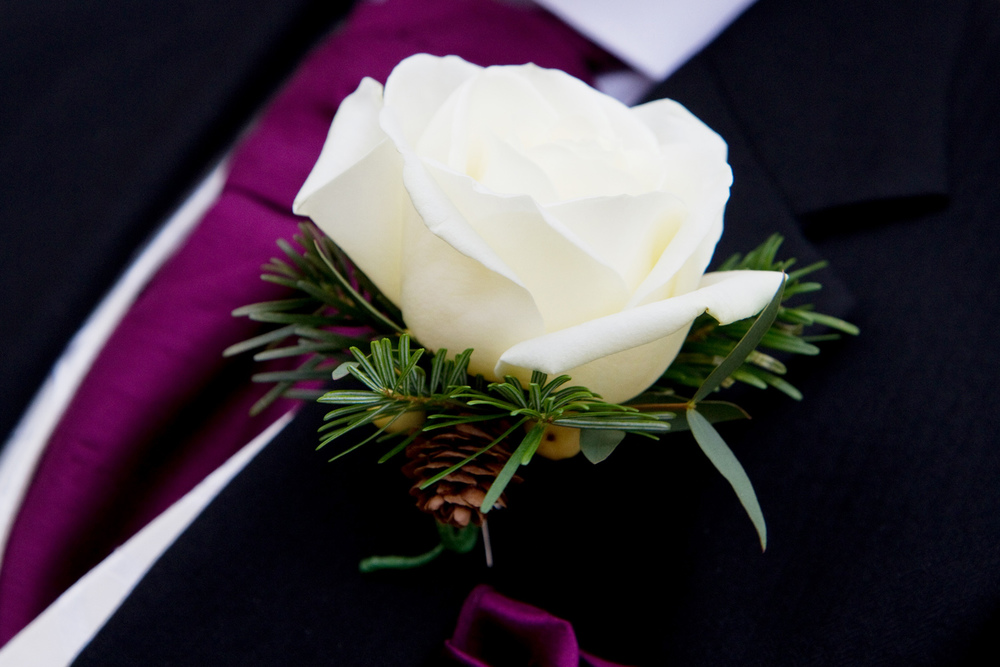 Grooms Buttonhole, Winter Wedding, Helen England Photography, Kent, U.K