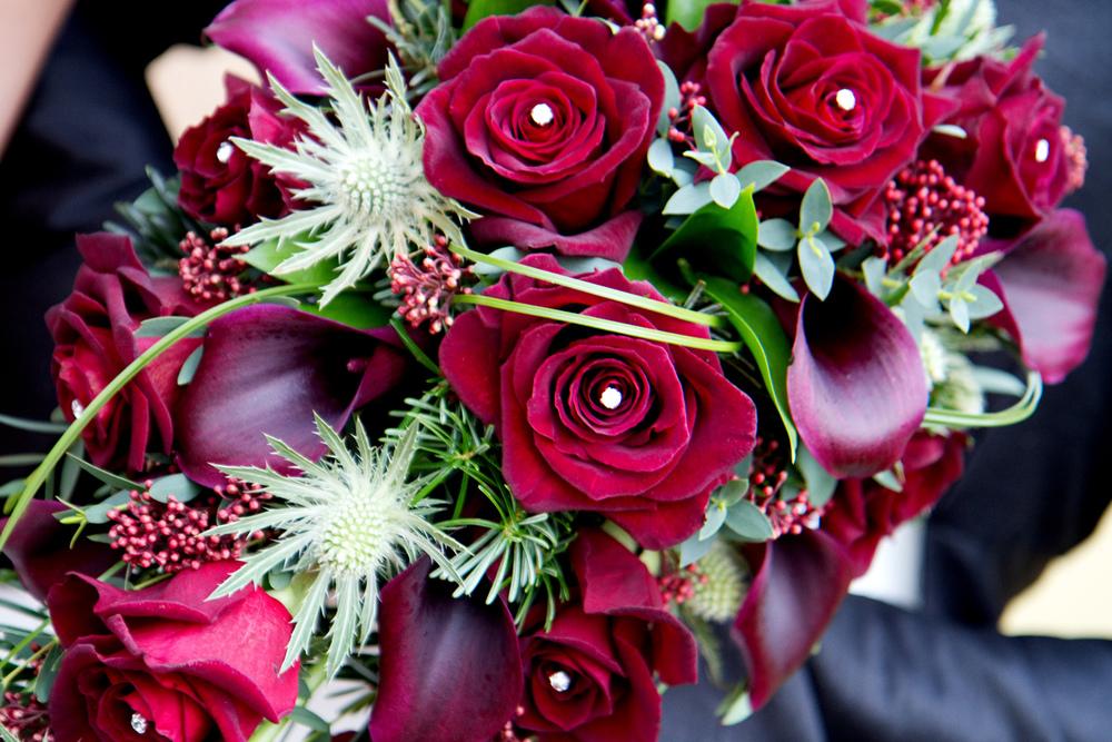 Red rose wedding bouquet, Helen England Photography, Kent, U.K