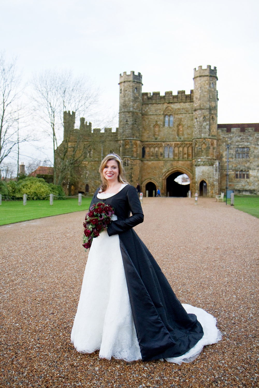 Black & White wedding dress, Helen England Photography, Kent, U.K
