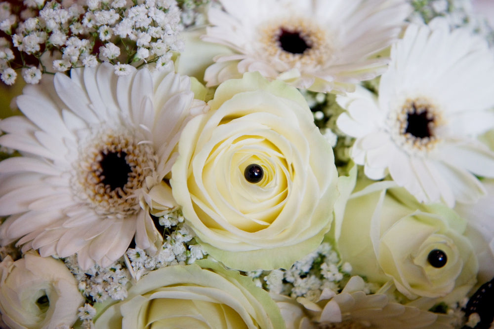 White Wedding Bouquet, Helen England Photography, Kent, U.K